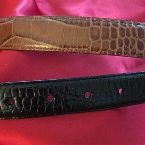 Men's Ralph Lauren Sml 30 - 34 Alligator Rev Belt